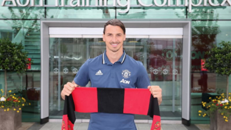 6018f0c01 Zlatan Ibrahimovic Reveals His Manchester United Shirt Number