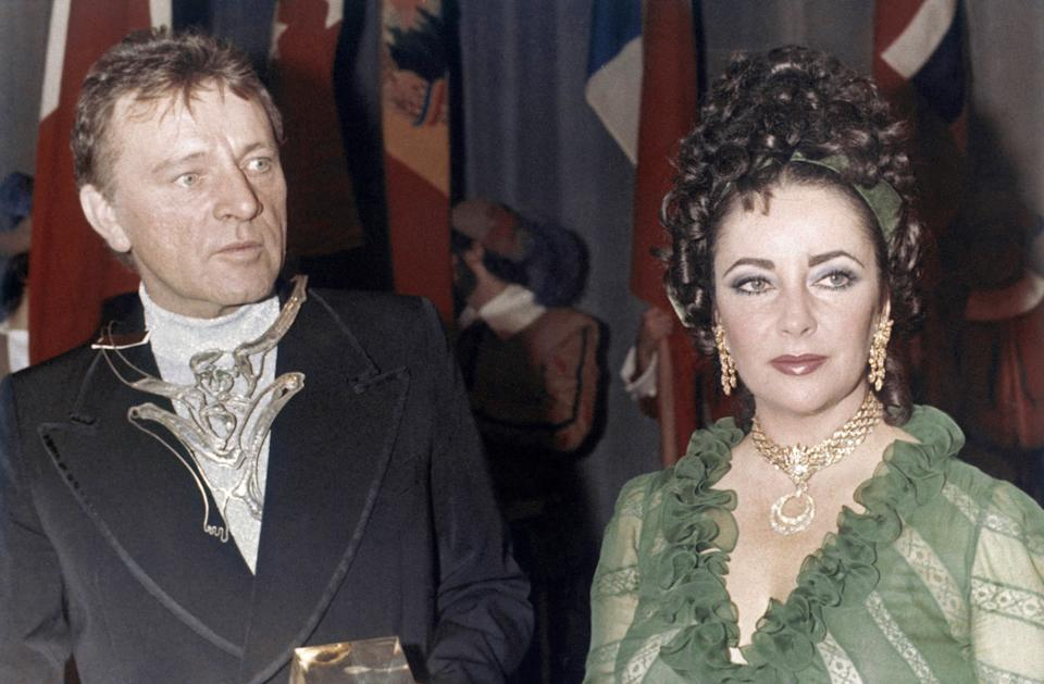 Liz Taylor and Richard Burton in an undated photo. (AP Photo)