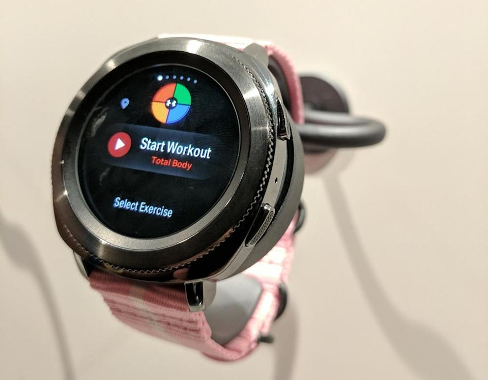 Samsung's Gear Sport is a more fitness-centric version of the Gear S3.