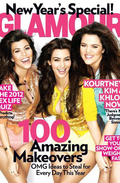 The sisters ring in 2012 with Glamour.