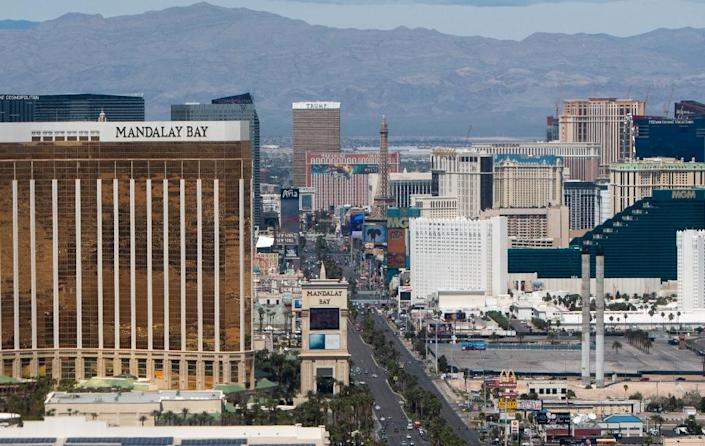 The Las Vegas Strip, where a laundry list of artists are launching concert residencies as the city works to woo millennials uninterested in gambling (AFP Photo/SAUL LOEB)