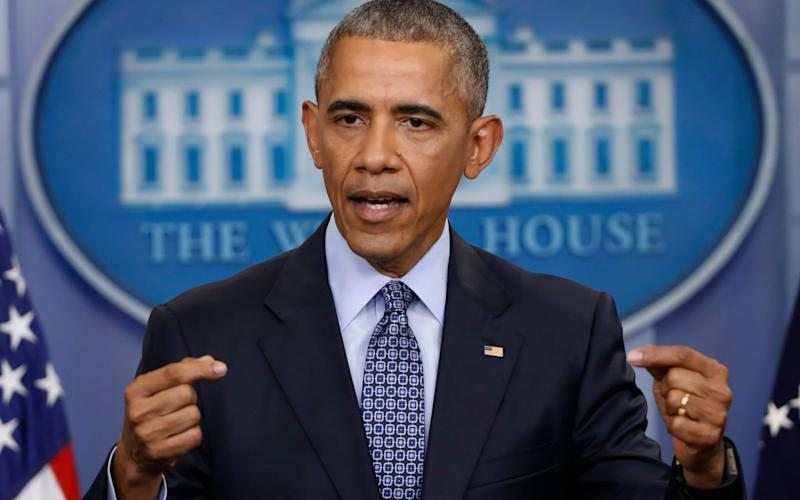 President Barack Obama speaks during a news conference in the briefing room of the White House in Washington. Former President Barack Obama will speak Monday, April 24, 2017, in Chicago with young community leaders and organizers in an event at the University of Chicago, where his presidential library is planned. - AP