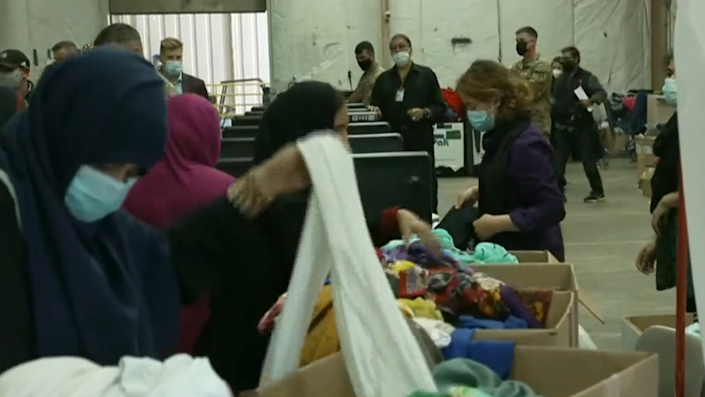 A look inside of Fort McCoy in Wisconsin where thousands of Afghan refugees are temporarily housed.