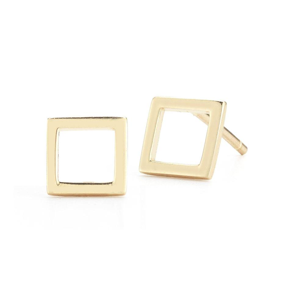 """<p><strong>Mateo</strong></p><p>mateonewyork.com</p><p><strong>$250.00</strong></p><p><a href=""""https://mateonewyork.com/collections/earrings/products/mini-diamond-square-stud"""" rel=""""nofollow noopener"""" target=""""_blank"""" data-ylk=""""slk:Shop Now"""" class=""""link rapid-noclick-resp"""">Shop Now</a></p><p>Simple, chic, timeless—you can't go wrong with these gold studs. This is the type of earring that's so easy to wear every single day.</p>"""
