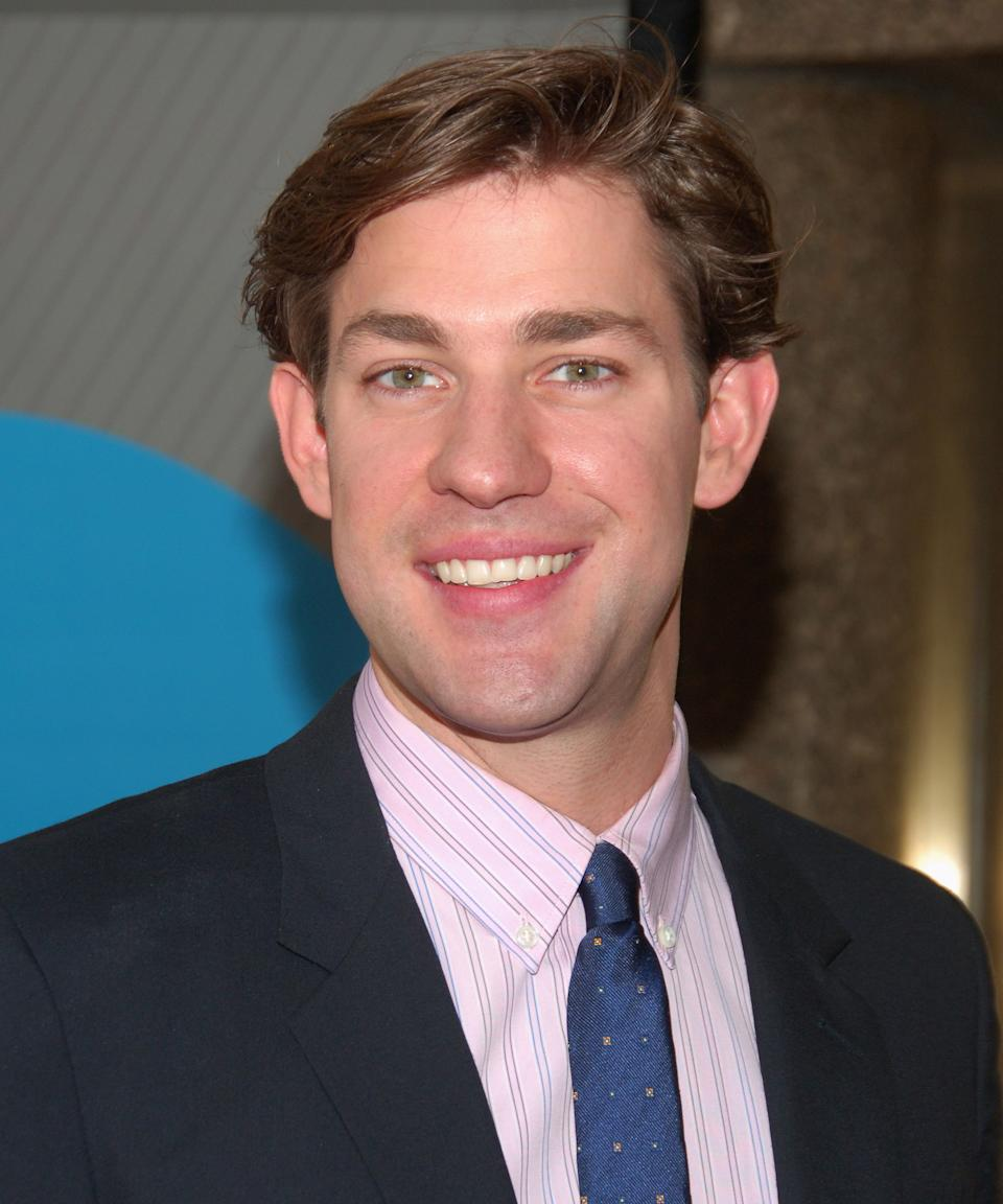 """<strong><h2>2007</h2></strong> Krasinski in a newscaster cut isn't our favorite, but at least he's starting to experiment. <span class=""""copyright"""">Photo: Michael Loccisano/FilmMagic.</span>"""