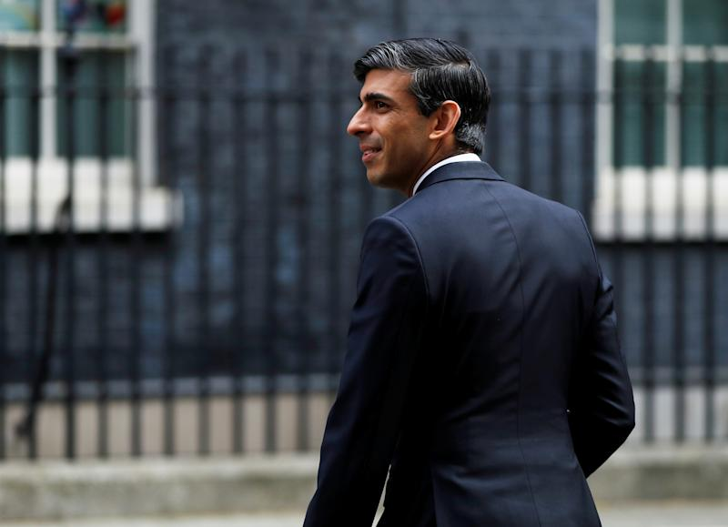 Chancellor of the Exchequer Rishi Sunak is seen as he arrives at Downing Street, following the outbreak of the coronavirus disease (COVID-19), London, Britain, May 13, 2020. REUTERS/John Sibley