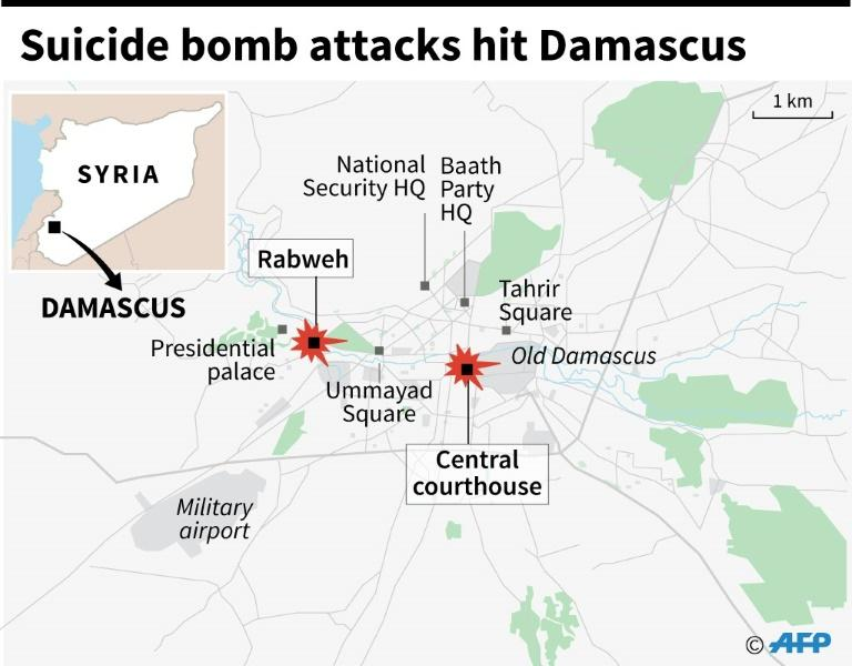 Suicide bomb attacks hit Damascus
