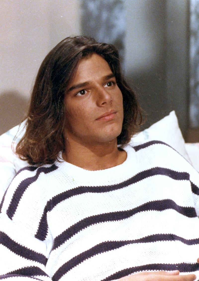 "Ricky Martin in 1991 while starring in his role in the Mexican <em>telenovela</em> ""Alcanzar una estrella II""."