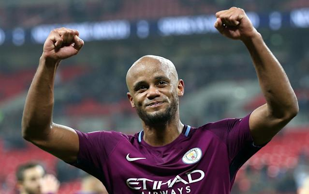 "Vincent Kompany has challenged his Manchester City team-mates to usher in a period of domestic dominance after Pep Guardiola's side were unexpectedly crowned champions with five matches of the season to spare on Sunday. Guardiola was playing golf with Tommy Fleetwood, the world No 12, and his son Marius at Sandiway in Cheshire when news filtered through that Manchester United had slumped to a miserable 1-0 defeat to bottom club West Bromwich Albion at Old Trafford to guarantee their rivals the title. It evoked memories of Sir Alex Ferguson, the former United manager, being on the golf course when he heard his team had clinched their first Premier League title following Oldham Athletic's victory at Aston Villa in May 1993. City's 3-1 victory away to Tottenham Hotspur on Saturday evening left United needing to avoid defeat to West Brom to delay their rivals' title coronation, but Jose Mourinho's side surrendered in abject fashion, Jay Rodriguez's 73rd-minute goal handing Guardiola his ­seventh title in nine seasons and City their third in seven. City could become the first Premier League club to reach the 100-point barrier should they claim 13 points from their final five games and need just nine to surpass Chelsea's record haul of 95 in 2004-05. Champions!!!!!! What a great feeling!! So happy to be able to share another trophy with our amazing fans!#ManCity#SharkTeam#Championspic.twitter.com/8CqCtyX7vi— Vincent Kompany (@VincentKompany) April 15, 2018 But Kompany, the City captain, has already turned his sights to next season by urging the club to ensure there is no let-up in their pursuit of silverware. City's title defences after their successes in 2012 and 2014 ended in disappointment and the Belgian – the club's longest serving player – is determined to go one better next time around. ""You can't take it for granted. I've never been able to retain a title and I want to see if this team can be even more successful,"" Kompany, who watched the game in the living room of his wife Carla's grandmother's house, said. Captain, leader, legend ���� @VincentKompany@ManCity@City_Watchpic.twitter.com/CGIg5HGkIQ— Alex Hunt (@AlexHunt01) April 15, 2018 ""I have been lucky to win three but so many I have missed. I suppose my team-mates will perhaps roll their eyes a little bit but I have never retained a title so I want to see how we react now next season. ""He [Guardiola] has been able to transfer to the team … that hunger and desire to never be satisfied. I'm probably the first one to think about next season, I would like to stay humble, this is not a dynasty. It is one title and we are all delighted but there is a lot more to do to ­unlock our full potential."" Man City player ratings for title-winning season Kompany said City's players had bought wholeheartedly into Guardiola's methods. ""We all believed in it,"" he said. ""There was a period of adaptation for him coming into the league and for us taking in his methods. They were the right ones and the ones we believed in. I'm sure there are differences to how we play today compared to his Bayern and Barcelona teams. We survive and live by the strength of the team. One team was dominant in Germany and one had [Lionel] Messi, but we are nothing without the team. ""The first one [title] was special but this one is perhaps the one I'm most proud of. It's a privilege to be a part of this team. Our Time. Our City. Premier League Champions 17/18 ��#mancitypic.twitter.com/lztlN3lWFW— Manchester City (@ManCity) April 15, 2018 ""I had that feeling when I woke up this morning, I don't like to wait and see a team lose but you go into a game and think, 'West Brom are a good team, they don't deserve to be where they are' and a set-piece, a wonderful goal from Rodriguez, thank you. It shows how football is in Manchester. ""There have been a lot more good days for the red side but today it is for the blue."" pic.twitter.com/HHvJDwkejY— James Matthews (@JamesM1717) April 15, 2018 ""We were consistent the whole season, we played at the level we wanted to. A few times we won it before we nearly threw it away."" Speaking in the wake of City's win over Spurs, Guardiola said the challenge for the club was to win back-to-back titles and start to try to carve a history to eventually match historic rivals such as United and Arsenal. The key men on Pep Guardiola's backroom staff 