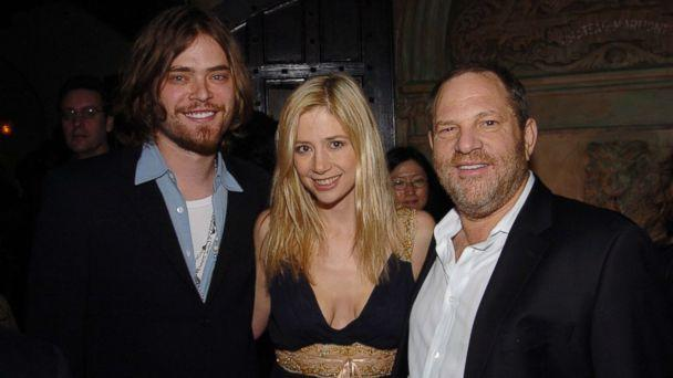 PHOTO: (L-R) Chris Backus, Mira Sorvino and Harvey Weinstein attend HBO's Annual Pre-Golden Globes Party hosted by Colin Callender, Chris Albrecht and Carolyn Strauss at Chateau Marmont, Jan. 14, 2006 in Los Angeles. (Billy Farrell/Patrick McMullan via Getty Images)