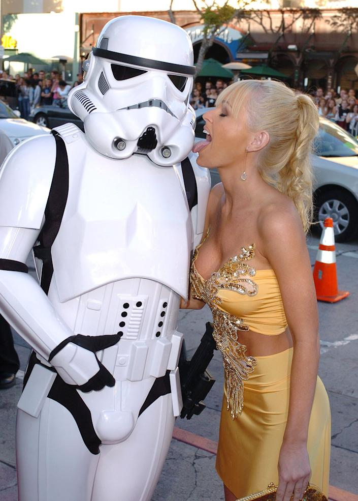 "Katie Lohmann during ""Star Wars: Episode III - Revenge of The Sith"" Premiere to Benefit Artists for a New South Africa Charity, 2005, at Mann's Village Theater in Westwood, CA, United States."