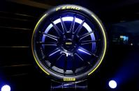 FILE PHOTO: A Pirelli tyre is seen before a ceremony at the Milan Stock Exchange, in Milan