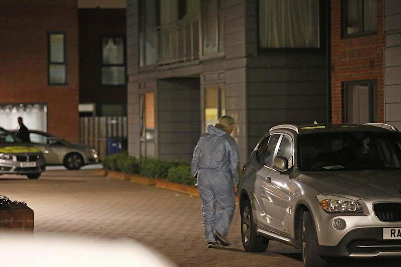 Forensic officers in Colindale after a young father was murdered (NIGEL HOWARD ©)