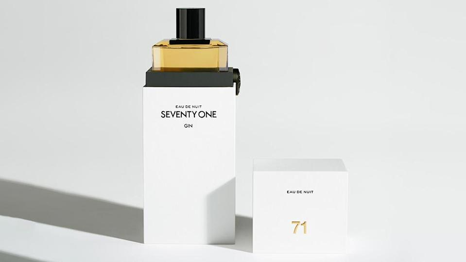 The gin is packaged more like a perfume than a traditional spirit. - Credit: Seventy One Gin