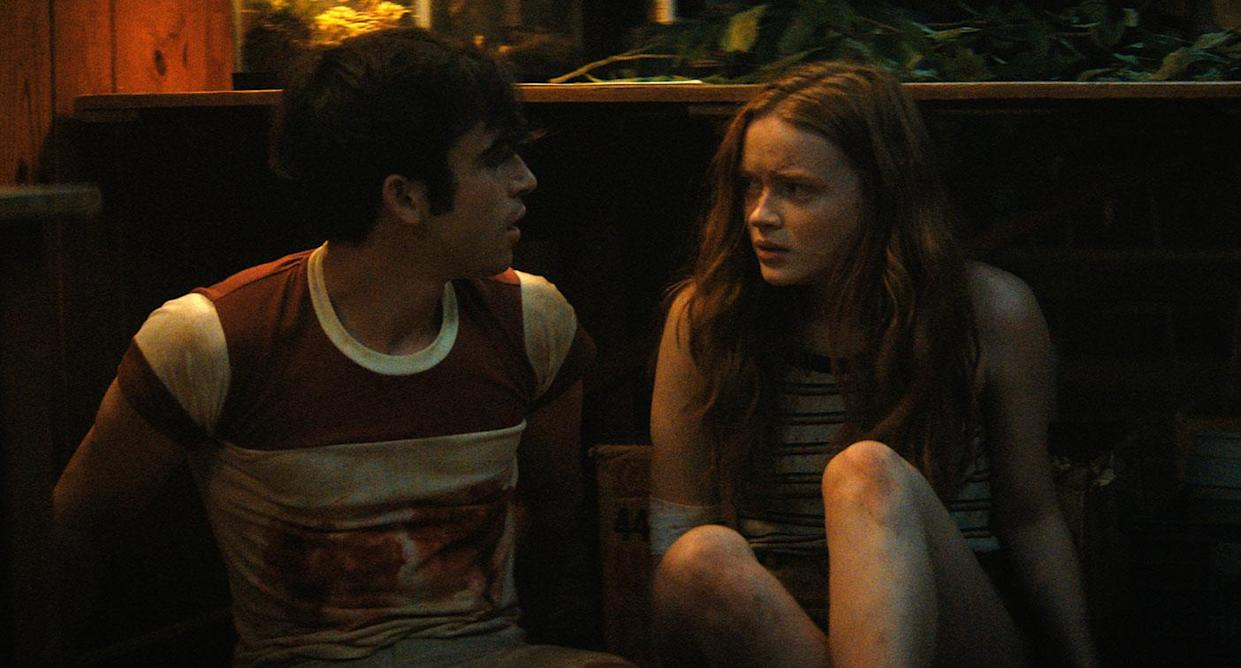 Ted Sutherland and Sadie Sink in Fear Street Part 2: 1978 (Netflix)