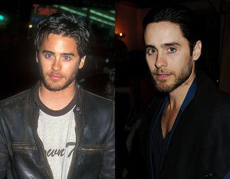 30 Seconds to Mars singer Jared Leto managed to stop aging 18 years ago when the photo on the left was taken. Seriously, do you see any difference in that face? The biggest difference we can see is that he has a little more fat on his face in the photo on the left, but he did lose a lot of weight for his role in the Dallas Buyers Club in which he stars opposite Matthew McConaughey,