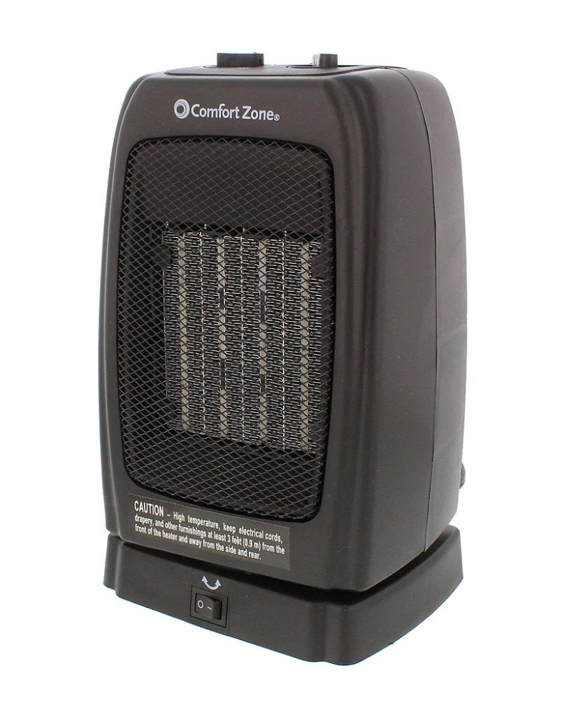 Comfort Zone Oscillating Heater (Photo via The Home Depot)