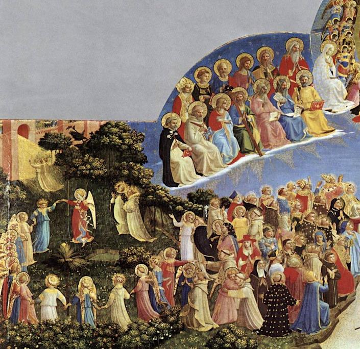 """<span class=""""caption"""">Medieval Christians believed that heaven was a realm filled with dancing. Italian painter Fra Angelico's 'Last Judgment' showing dancing angels.</span> <span class=""""attribution""""><a class=""""link rapid-noclick-resp"""" href=""""https://upload.wikimedia.org/wikipedia/commons/f/fd/Angelico%2C_giudizio_universale_01.jpg"""" rel=""""nofollow noopener"""" target=""""_blank"""" data-ylk=""""slk:Fra Angelico's Last Judgment/Wikimedia"""">Fra Angelico's Last Judgment/Wikimedia</a></span>"""