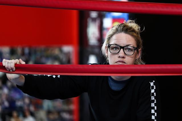 Unbeaten boxer Heather Hardy will get her wish and get to fight on HBO when she faces Shelly Vincent on Oct. 27 in a rematch for the WBO featherweight title. (Getty Images)