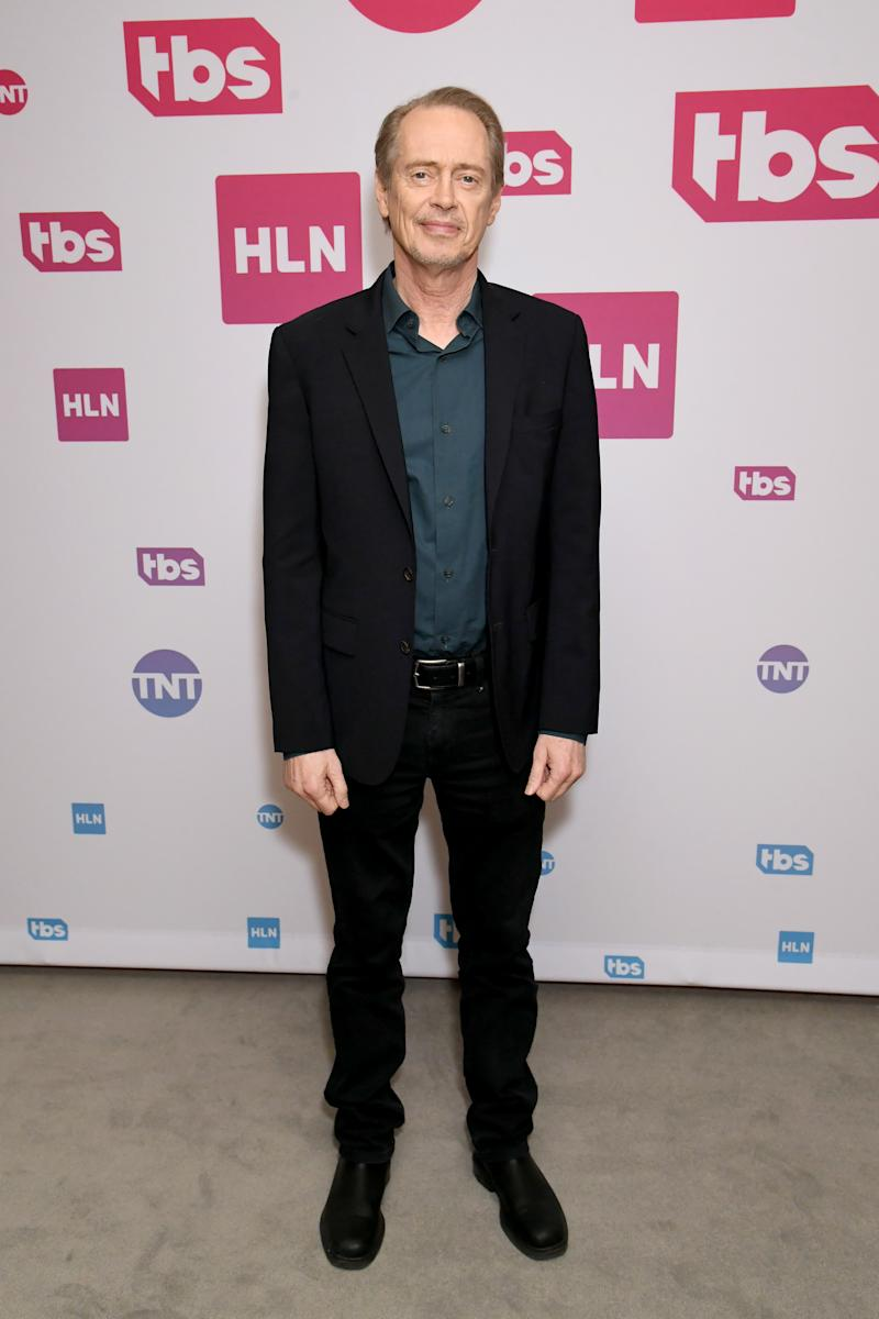 Steve Buscemi of 'Miracle Workers: Dark Ages' poses in the green room during the 2020 Winter Television Critics Association Press Tour at The Langham Huntington, Pasadena on January 15, 2020 in Pasadena, California. 723750 (Photo by Jeff Kravitz/Getty Images for WarnerMedia)