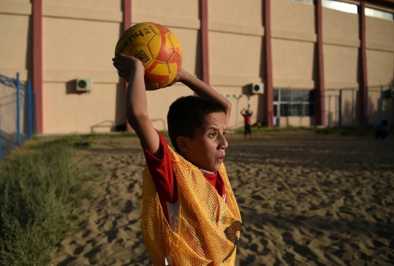 Almost 200 boys, many from extremely poor families, train around three times a week at the Ghazi stadium in Afghanistan
