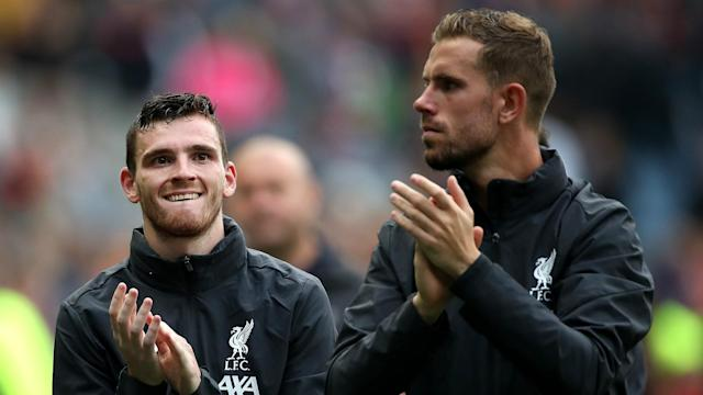 Liverpool are on course for their first top-flight title since 1990, and the left-back thinks much of their success is down to their captain