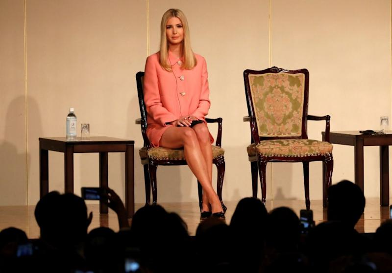 The 36-year-old wore a a $2,560, bubble-gum pink Miu Miu crepe jacket with a matching miniskirt. Photo: Getty Images