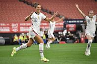 """<p>It's official: two-time World Cup champion and three-time Olympic medalist <a href=""""http://www.popsugar.com/fitness/carli-lloyd-facts-48402929"""" class=""""link rapid-noclick-resp"""" rel=""""nofollow noopener"""" target=""""_blank"""" data-ylk=""""slk:Carli Lloyd"""">Carli Lloyd</a> will hang up her cleats at the end of the NWSL season. Lloyd has worn the number 10 on the US women's national team for more than 15 years, scoring 134 international goals. Pay homage to one of the greatest soccer players of all time by sporting her jersey this <a class=""""link rapid-noclick-resp"""" href=""""https://www.popsugar.co.uk/Halloween"""" rel=""""nofollow noopener"""" target=""""_blank"""" data-ylk=""""slk:Halloween"""">Halloween</a>.</p> <ul> <li><span>Nike Carli Lloyd USWNT Home Stadium Jersey</span> ($120)</li> <li><span>Nike Dri-FIT Classic Knit Soccer Shorts</span> ($18, originally $22) </li> <li><span>AM Landen Knee High Tube Socks</span> ($8)</li> <li><span>OSELEE Non-Slip Elastic Running Headband</span> ($6)</li> </ul>"""