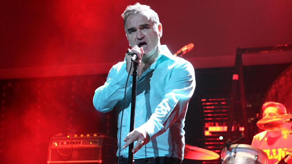 NEW YORK - OCTOBER 12, 2012: Morrissey performs in concert at Radio City Music Hall on October 12, 2012 in New York City.