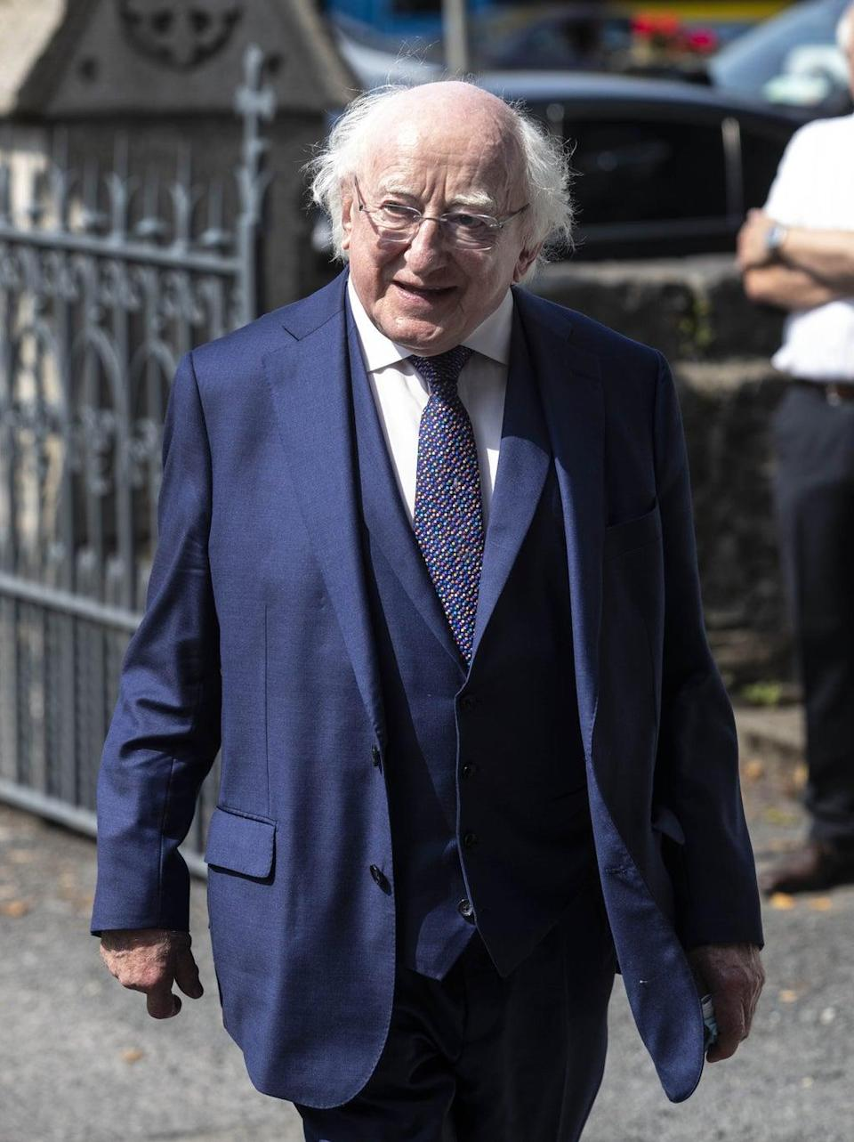 President of Ireland Michael D Higgins said Pat Hume had made an 'extraordinary contribution' to life in Ireland (Damian Eagers/PA) (PA Wire)