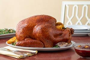 Herb and Citrus Butter Roasted Whole Turkey recipe available in attached PDF