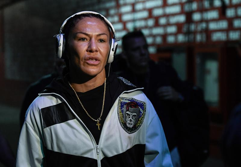 INGLEWOOD, CA - DECEMBER 29: Cris Cyborg of Brazil arrives to the arena during the UFC 232 event inside The Forum on December 29, 2018 in Inglewood, California. (Photo by Brandon Magnus/Zuffa LLC/Zuffa LLC via Getty Images)