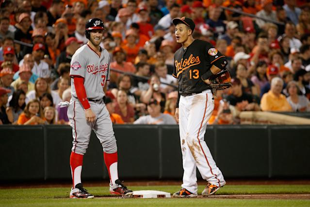 Bryce Harper and Manny Machado could both be wearing Phillies uniforms before the start of the 2019 season. (Photo by Rob Carr/Getty Images)