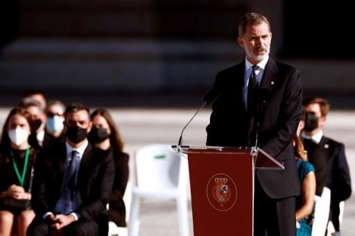 "Spain's�King Felipe VI said that ""this act cannot heal the pain felt by so many families"""