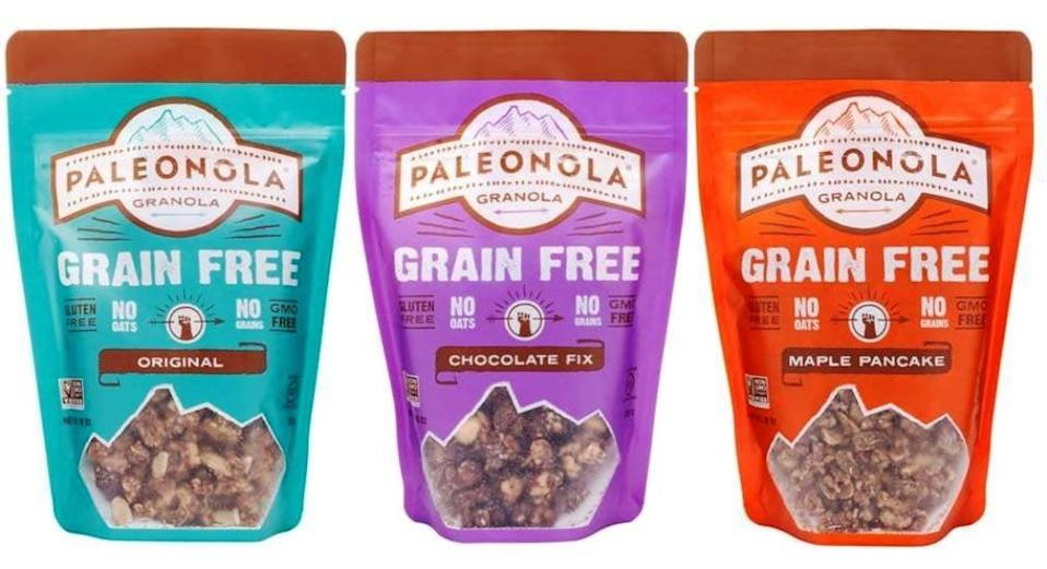 <p>Good luck putting this <span>Paleonola Grain-Free Gluten-Free Granola</span> ($28 for three) down. Try three of the bestselling flavors with this variety pack; our favorite is the maple pecan. At only five grams of net carbs per serving, this is one pick we can get behind.</p>
