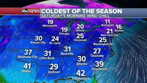 PHOTO: A major cold blast is on the way end of the week into the weekend from the Plains to the Northeast and even into parts of the South. (ABC News)