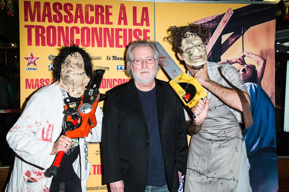 Tobe Hooper attends the Texas Chain Saw Massacre screening for the film's 40th anniversary in Paris on September 23, 2014. (Photo by Victor Boyko/Getty Images)
