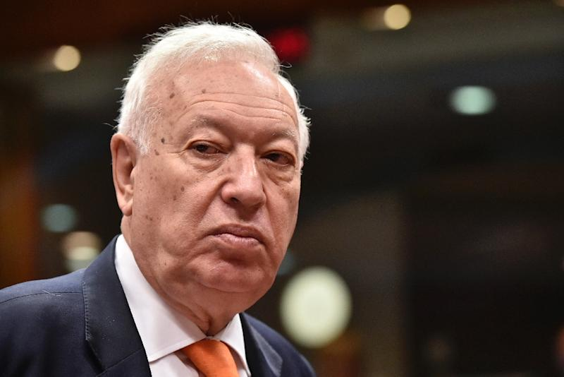 Spanish Foreign Minister Jose Manuel Garcia-Margallo said Madrid has not received any ransom demands for the three missing journalists (AFP Photo/John Thys)