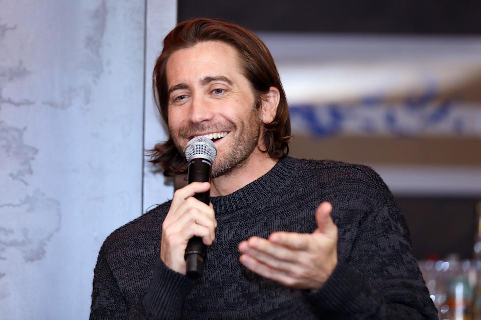 Jake Gyllenhaal attends a Palo Alto Networks dinner on February 25, 2020. (Photo by Kelly Sullivan/Getty Images for Palo Alto Networks)