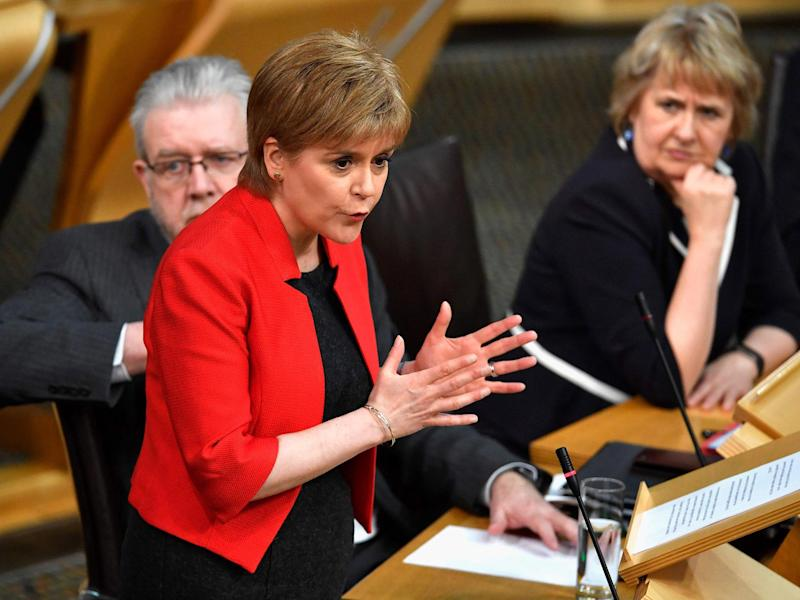 First Minister Nicola Sturgeon had been addressing Holyrood's referendum debate before the attack at Westminster occurred: Getty