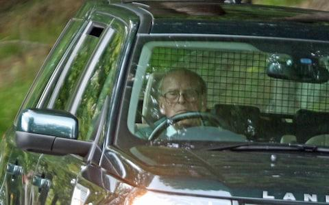 Prince Philip driving near Balmoral Castle in September last year - Credit: Peter Jolly/Northpix