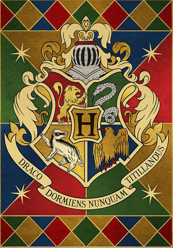 these hogwarts house prints could be the perfect 'harry