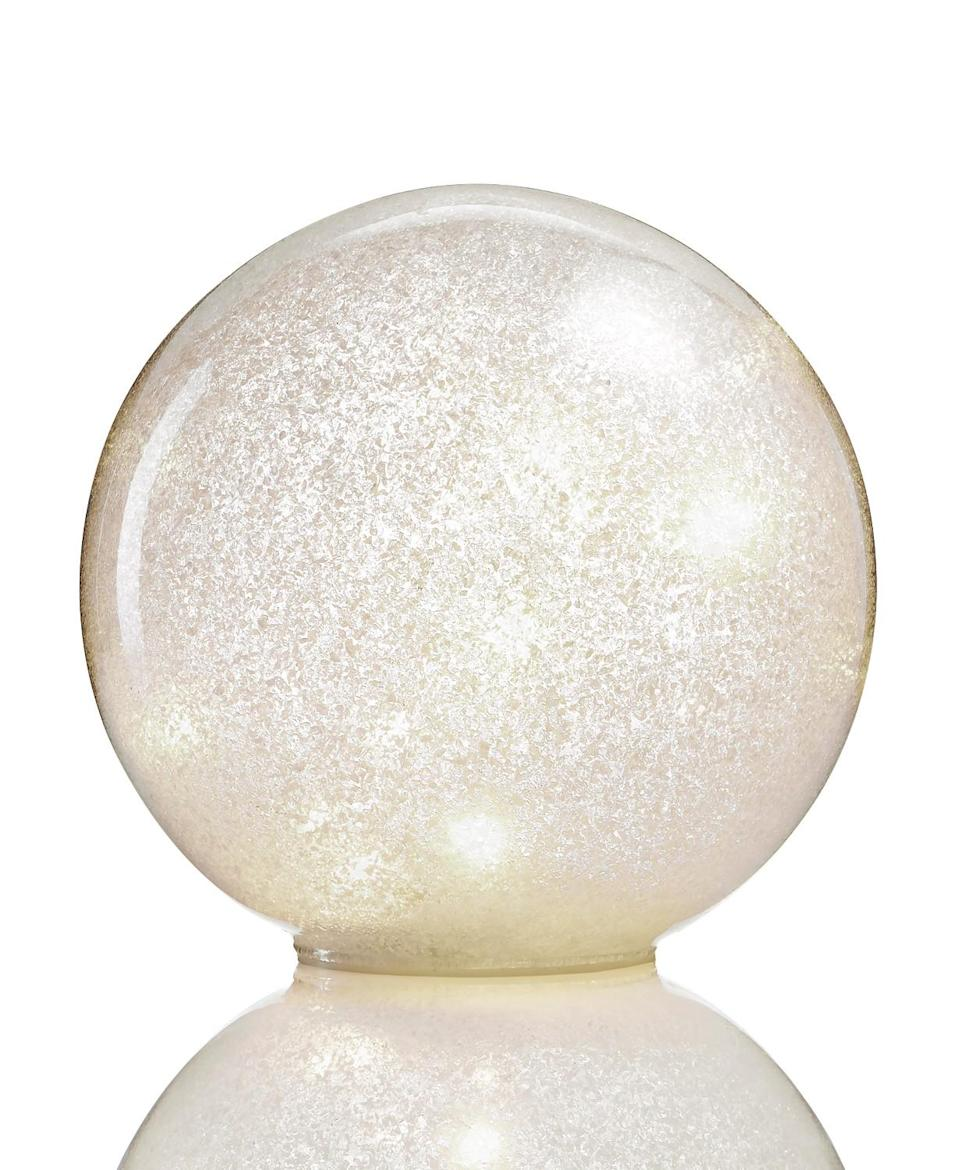 Holiday Lane 7-inch ball with LED twinkle light. (Photo: Macy's)