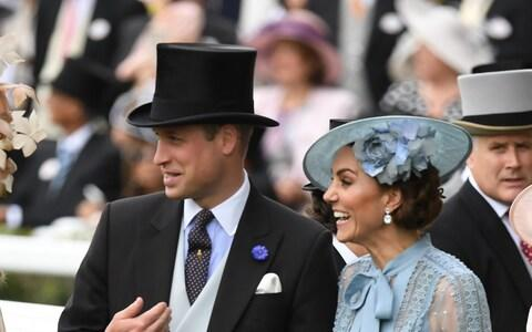 The Duke and Duchess of Cambridge at Royal Ascot yesterday