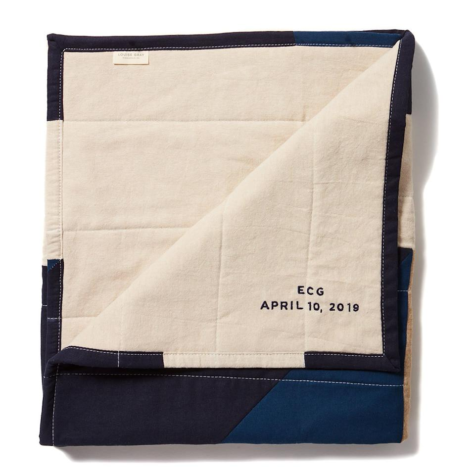 <p>Who doesn't want another cozy throw for their couch or bed? These beautiful, handcrafted quilts can be personalized with initials or used to commemorate a special occasion, like the birth of a child or wedding date.</p>