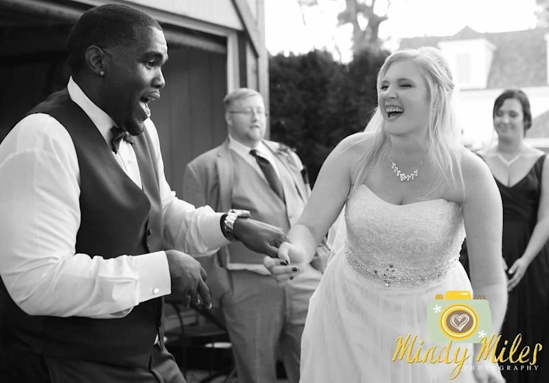 Quintin and Ashleigh Reed tied the knot on Oct. 7.  (Mindy Miles Photography)