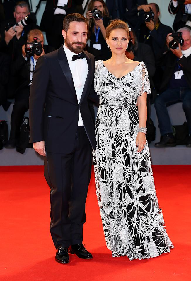 <p>Portman kicked off the <i>Jackie</i> press tour with director Pablo Larraín by her side at the 73rd Venice Film Festival on Sept. 7, 2016, in Italy. (Photo: Ernesto Ruscio/Getty Images) </p>