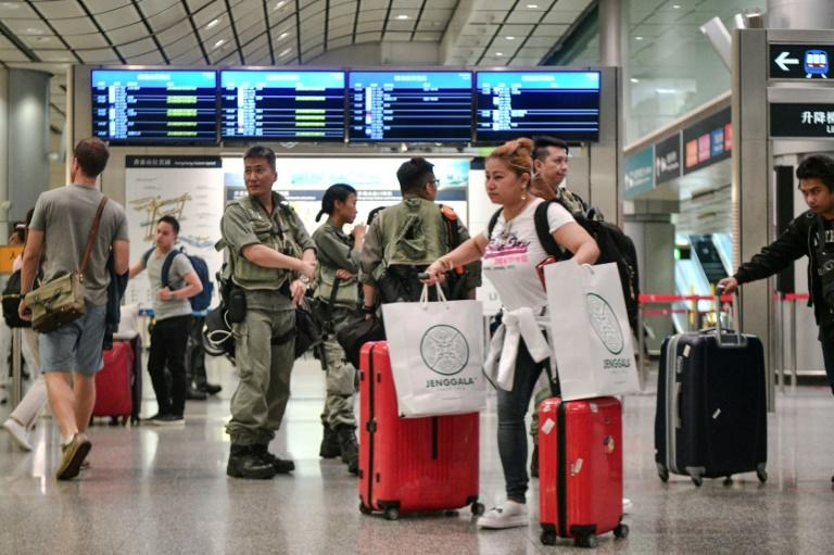 The airport has repeatedly been targeted in the protests but the tactic is divisive because of the travel misery it causes