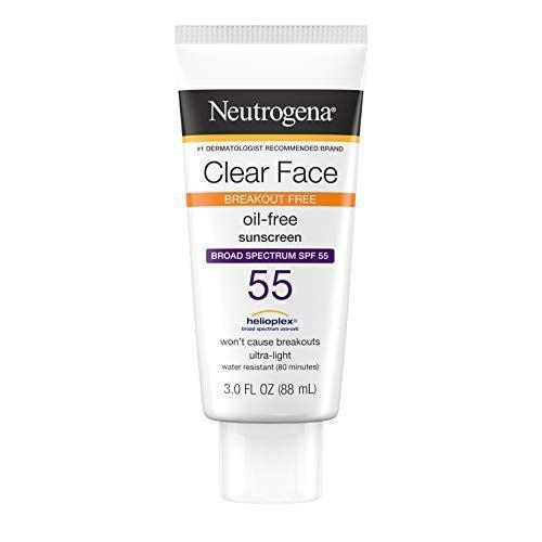 """<p><strong>Neutrogena</strong></p><p>amazon.com</p><p><strong>$9.34</strong></p><p><a href=""""https://www.amazon.com/dp/B004D2826K?tag=syn-yahoo-20&ascsubtag=%5Bartid%7C2141.g.27632513%5Bsrc%7Cyahoo-us"""" rel=""""nofollow noopener"""" target=""""_blank"""" data-ylk=""""slk:SHOP NOW"""" class=""""link rapid-noclick-resp"""">SHOP NOW</a></p><p>Dr. Zeichner says that """"this oil-free formulation is light, won't weigh down the skin, and most importantly won't cause acne breakouts."""" While it is a chemical sunscreen, it's also fragrance-free and noncomedogenic to reduce irritation and clogged pores. Better yet, <strong>the matte finish is a dream for oily skin</strong> and at only $11 a bottle, it's easy on the wallet, too.</p>"""