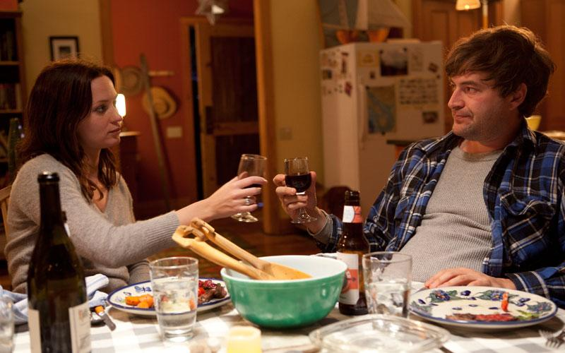 """This film image released by IFC Films shows Emily Blunt, left, and Mark Duplass in a scene from """"Your Sister's Sister."""" (AP Photo/IFC Films, Tadd Sackville-West)"""